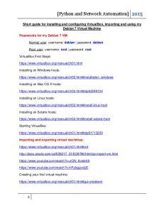 001 VirtualBox and Virtual Machines - Short Guide