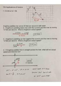 01-05 Notes 15A Applications of Vectors