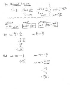 02-02 Notes The Reciprocal Functions