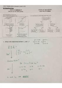 02-05 Notes 15H.2 Relationships between Lines in 3D