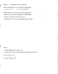 02-23 Notes Sine, Cosine, and Tangent Parent Functions