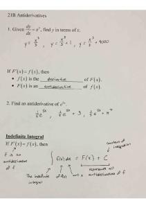 03-02 Notes 21B Antiderivatives