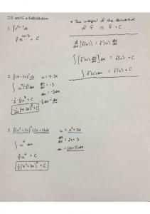 03-09 Notes 21F and G u-Substitution