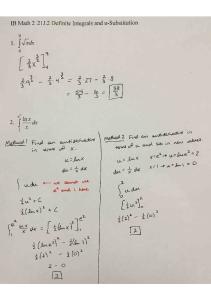03-15 Notes 21J.2 Definite Integrals and u-Substitution