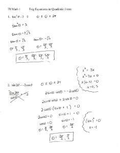 03-16 Notes Trig Equations in Quadratic Form