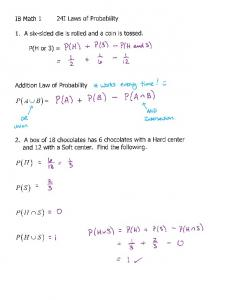 04-15 Notes 24I Laws of Probability