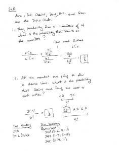 04-17 Notes 24K Probability with Permutations and Combinations