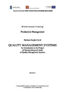 08_Quality Management Systems - Zaliczenie