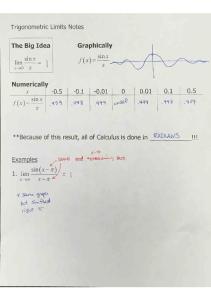09-16 Notes Trigonometric Limits