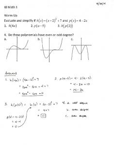 09-23 Notes 2D Composition of Functions 2E Odd and Even