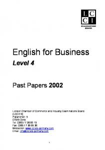 1 LCCI level 4