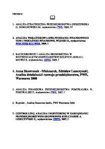 1 Literatura analiza fianansowa
