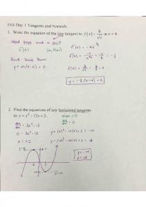 10-19 Notes 19A Tangents and Normals