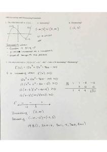 10-21 Notes 19B Increasing and Decreasing