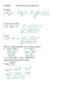 10-22 Notes 4C.2 Log Equations