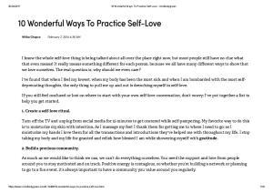10 Wonderful Ways To Practice Self-Love - mindbodygreen