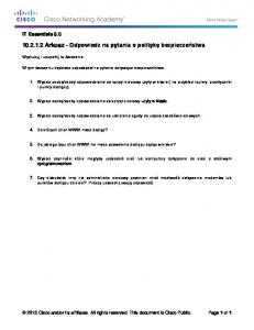 10.2.1.2 Worksheet - Answer Security Policy Questions
