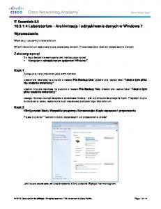 10.3.1.4 Lab - Data Backup and Recovery in Windows 7