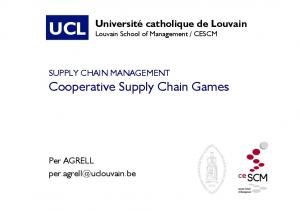 12 - Cooperative Supply Chain Games