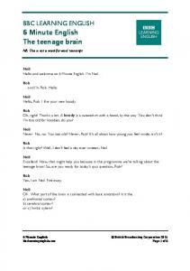 150618 - 6 min English - teenage brain