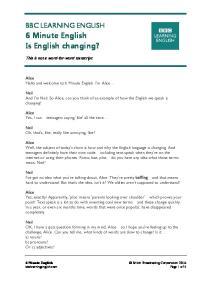 160804 - 6 min English - future of english