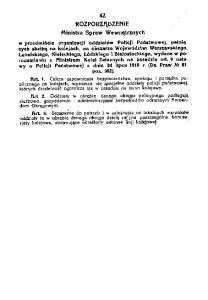 1919.12.30 Rozp MSW organizacja PP na kolejach