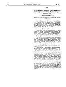 1927.11.03 Rozp MSW umundurowanie i uzbrojenie PP