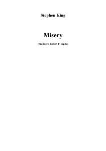 1987 - MISERY - Stephen King