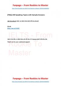 240 Speaking Topics with Sample Answers