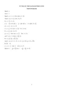 2b. Funkcje Trygonometryczne - odpowiedzi