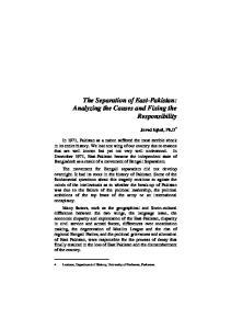 3. Separation of East Pakistan javed iqbal
