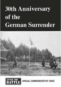 30th Anniversary of German surrender
