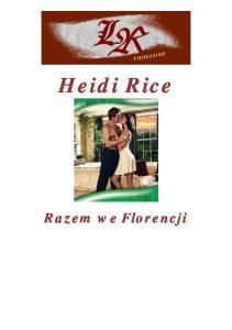 345.Rice Heidi - Razem we Florencji