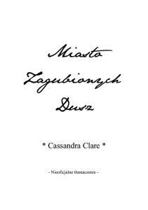 5 Cassandra Clare - Miasto Zagubionych Dusz