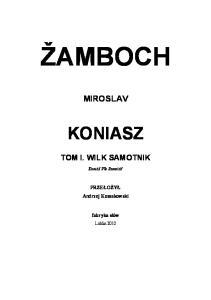 5. Zamboch Miroslav - Wilk samotnik t