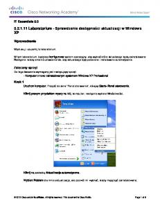 5.2.1.11 Lab - Check for Updates in Windows XP