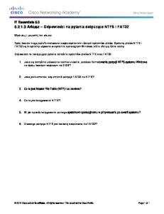 5.2.1.3 Worksheet - Answer NTFS and FAT32 Questions