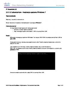 5.2.1.5 Lab - Install Windows 7