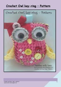 7. Crochet Owl key- pattern