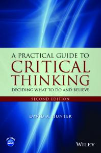 A practical guide to critical thinking - Hunter