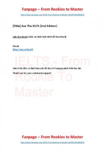 Ace The IELTS (2nd Edition)