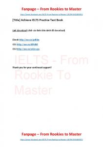 Achieve IELTS Practice Test Book