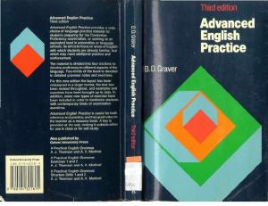 Advanced English Practice - Graver - writing