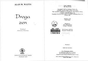 Alan Watts - Droga Zen