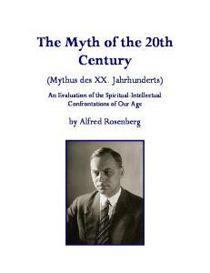 Alfred Rosenberg - The Myth of the 20th Century