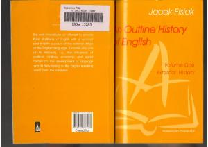 An Outline History of English; Jacek Fisiak