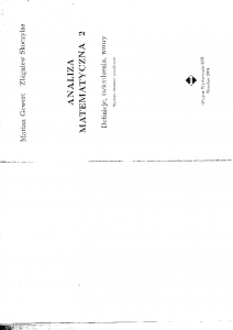 Analiza matematyczna -2a-Definicje-Twierdzenia-Wzory M.Gewert, Skoczylas