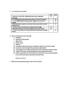 Angielski test - odpowiedzi