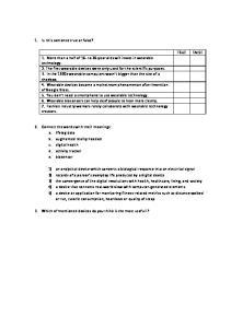Angielski test - pytania