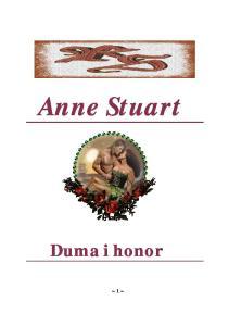 Anne Stuart - Duma i honor